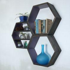 Modern Furniture Wooden Geometric Wall Shelves by HaaseHandcraft