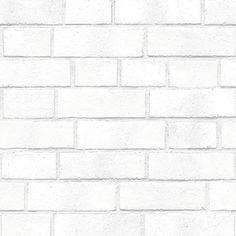 Sample Brick White Textured Self Adhesive Wallpaper design by Tempaper