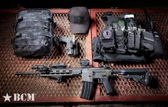 BCM Jack Carbine, G Code Holster with Glock 19, D3 Chest Rig