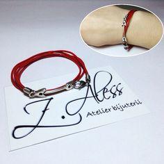 Leather bracelet with zamak accessories by Z.Aless