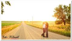 Katie McDonald Photography+engagement+field+farm+rustic+iowa