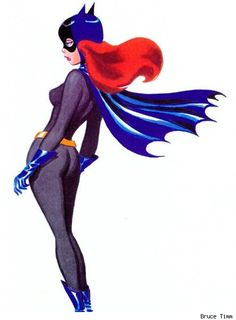 Batgirl, by Bruce Timm - her real name is Shelby Day