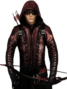 Color Maroon Material Faux Leather Collar Hoodie Attached Internal Soft Viscose Lining Front YKK Zipper Style Closure Sleeves: Full-Length Zipper Cuffs Pockets Two Waist Zipper & Inside Leather Hoodie, Leather Collar, Leather Jackets, Arsenal Arrow, Colton Haynes Arrow, Arrow Roy Harper, Corey Hawkins, Maroon Jacket, Arrow Tv