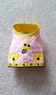 Your place to buy and sell all things handmade Boy Dog Clothes, Small Dog Clothes, Small Dog Breeds, Small Dogs, Bee Dog, Dog Clothes Patterns, Summer Dog, Dog Harness, Dog Gifts