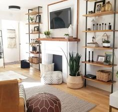 This space is good quality because they use the wall space well. There is a good variety of colors and different tones. The size of the rug works well. I think this space is engaging to look at would be good quality for someone looking for this style.