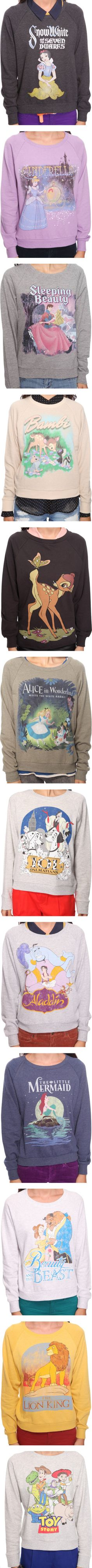 """Forever 21 Disney Sweatshirts"" 101 Dalmatians and The Little Mermaid! Disney Inspired Outfits, Disney Outfits, Disney Style, Disney Love, Disney Clothes, Disney Sweatshirts, Disney Sweaters, Hoodies, Forever 21 Disney"