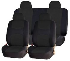 Universal Full Set OF Car Seat Covers - Solid Black UAA002 ,$25.95