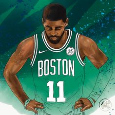 "78 Likes, 1 Comments - Illustt. (@illustt) on Instagram: ""@kyrieirving of @celtics will wing a ring this year?  #illustt #illusttnba #nba #nbaart…"""