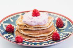 Hovkonditorn: Raspberry-Banana Protein Pancakes