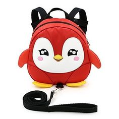 Sumnacon Baby Toddler Kids Walking Safety Mini Backpack Harness Reins Cartoon Animal Bag Backpack Harness with Adjustable Strap Penguin Antilost Backpack for Baby 13 Years Old Red *** Details can be found by clicking on the image. Mini Backpack, Backpack Bags, Safety Pictures, Baby Harness, Camping First Aid Kit, Animal Bag, Bags For Sale Online, Baby Safe, Child Safety