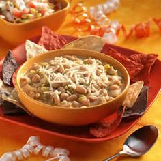 White Bean Turkey Chili | Skinnytaste.  This was delicious.  It was just for the three of us so I made a half recipe but kept the 2 cans of beans.  It was really good but didn't leave many leftovers.  I will probably make a full recipe next time to have chili for one more day.