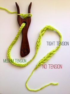 Lucet cord and how it is affected by tension