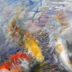 This painting by Nanci Hersh absolutely expresses the mesmerizing motion of rippling water with the brilliant colors of koi.