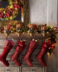 """""""Bordeaux"""" Pre-Lit Christmas Garland at Horchow."""