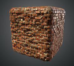 Procedural Brick Diorama Scene , Ben Keeling on ArtStation at https://www.artstation.com/artwork/rZ2W5