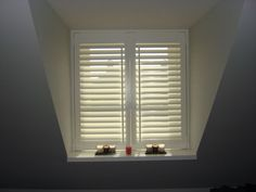 Full height shutters cover the full height of the window, this is our most popular and flexible installation styles offered by plantation shutters. White Shutters, Shutters, Attic Window, Sleeping Room, Interior, Home Bedroom, Window Shutters, Home Decor, Room