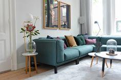 Portfolio - Studio Binnen Living Room Sofa, Living Room Decor, Victorian Terrace House, Modern Couch, Sweet Home, New Homes, House Design, Interior Design, Furniture