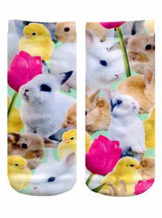 Easter Bunnies Ankle Socks
