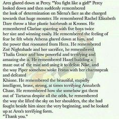 Awwww!!! Percy is proud to fight like a girl because most of the girls he knows fight with strength and they are brave