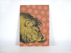 """Postkarte """"schlafender Löwe"""" Postkarte im Din A6 Format gedruckt auf hochwertigem Recyclingpapier.  1,50 € inkl. MwSt., zzgl. Versandkosten"""