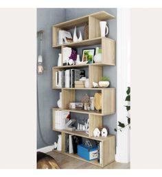 Estantería Athena alta roble canadian 198x80x25 cm Bookcase, Shelves, Home Decor, Products, Shape, Drop Down Desk, Table Desk, Tall Bookshelves, Low Bookcase
