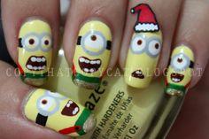 Despicable Me Christmas nails!!!!!