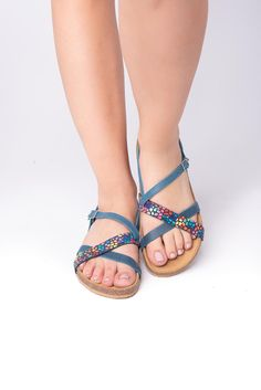 Nomad blue anatomic sandals - Leather sandals, light sandals, traveller sandals #AnatomicSandals #Sandals2020 #LeatherSandals #anatomic #WalkingSandals #TrekkingSandals #Birkenstock #FlatSandals #outdoors #WomenSandals Flat Sandals, Leather Sandals, Trekking Sandals, Birkenstock Mayari, Greek, Outdoors, Trending Outfits, Unique Jewelry, Summer