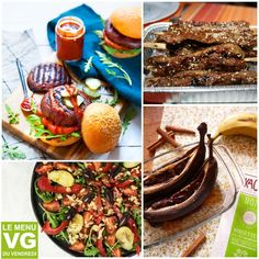 Petit-déjeuner raw vegan et sans gluten Sans Gluten Vegan, Raw Vegan, Menu Barbecue, Blog Vegan, Burger Buns, Tacos, Ethnic Recipes, Food, We