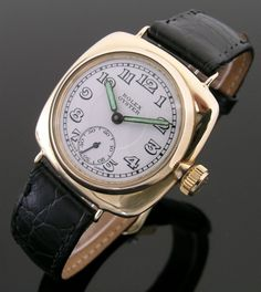 A 9ct gold cushion vintage Rolex Oyster watch, 1936