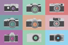 Markos Görges brings his collection of Olympus cameras to life, creating original art prints of classic Olympus cameras.   Do you have an Olympus favourite?
