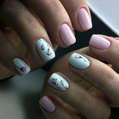 Нежный маникюр, дизайн ногтей весенний