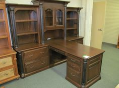 Jefferson Partners Desk with Hutches - eclectic - desks - columbus - Geitgey's Amish Country Furnishings