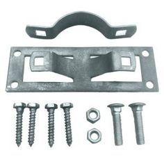 Oz-Post Steel 2 Wood Fence Bracket WAP-238-50100 at The Home Depot for upgrading a chain link to a wood fence