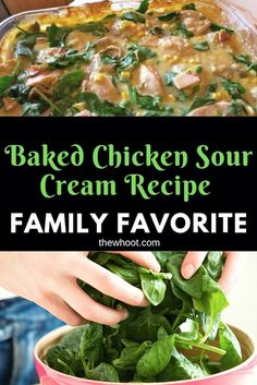 This Baked Sour Cream Chicken Recipe is easy and delicious and we have a video tutorial that steps you through the process. Chicken Recipes For Kids, Chicken Recipes Video, Salad Recipes Video, Baked Chicken Recipes, Turkey Recipes, Salad Recipes Healthy Lunch, Salad Recipes For Dinner, Super Healthy Recipes, Yummy Recipes