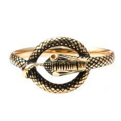 Early Victorian Black Enamel Snake Ring | circa 1830 http://www.1stdibs.com/jewelry/rings/fashion-rings/