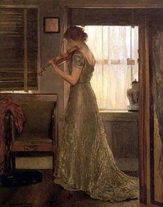 """The Violinist,"" Joseph Rodefer DeCamp (1858 - 1923)"