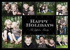 Mixbook Classic Black Collage Holiday Photo Cards