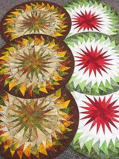 Seasonal Table Runner, Quiltworx.com, Made by CS Batiks Galore.
