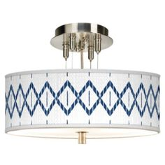 This sleek, drum shade ceiling light offers a custom Paved Desert pattern giclee shade design. Shade is high x wide. Pre-set hanging height of high. Maximum hanging height of Minimum hanging height of high. Style # at Lamps Plus. Drum Ceiling Lights, White Acrylics, Drum Shade, Printing Process, Diffuser, Print Patterns, Lamps, Deserts, Chandelier