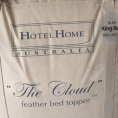 Am in heaven sleeping on my new 'cloud'. The best investment!