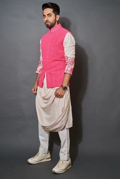 Dusty Pink Outfits, Mint Green Outfits, Mens Indian Wear, Indian Men Fashion, Nehru Jackets, Nehru Jacket For Men, Waistcoat Men, Wedding Outfit For Boys, Wedding Wear