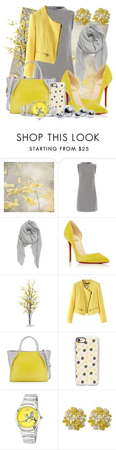 """""""Cloud And Shine"""" by dhieta17 ❤ liked on Polyvore featuring Peserico, BP., Christian Louboutin, Nearly Natural, Charles Jourdan, Casetify, Porsamo Bleu and blomus"""