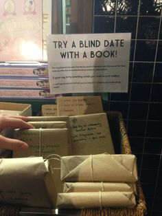 blind date with a book. brilliant.