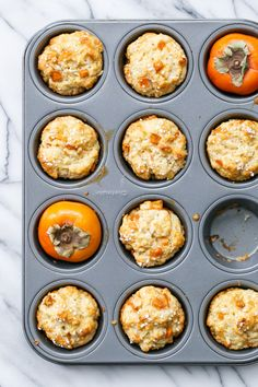 Ginger Persimmon Scone Muffins - The best parts of a muffin and a scone in ONE!