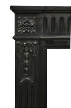 19th Century Rare Antique Black Marble Louis XVI Fireplace | From a unique collection of antique and modern fireplaces and mantels at http://www.1stdibs.com/furniture/building-garden/fireplaces-mantels/
