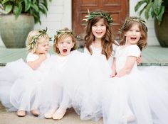 The cutest flower girls in tutus! Photography : Jen Dillender Photography Read More on SMP: http://www.stylemepretty.com/texas-weddings/austin/2016/08/04/organic-spring-wedding-in-texas/