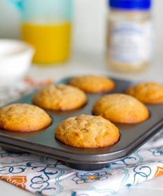 Healthy and delicious Peanut Butter and Honey Muffins -- when enjoyed in the proper portion size