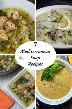 Warm up with 7 of our favorite soups from the Mediterranean Diet.  #souprecipe #mediterraneandiet #healthysoup #mediterraneansoup Mediterranean Soup Recipes, Mediterranean Diet Meal Plan, Healthy Soup, Healthy Menu, Weight Gain, Losing Weight, Weight Loss Plans, Weight Loss Program, Meme Gifs