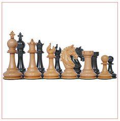 Aristocrat Series 4 Premium Staunton Chess Set in Ebony Wood and Box Wood
