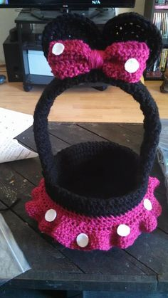 Minnie Mouse Inspired 7 Basket PATTERN ONLY by WinslowsCreations